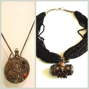 Lot 2pcs Vintage Collectible Chinese Necklaces